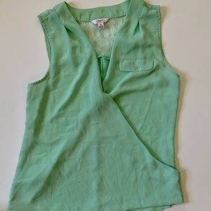 Candie's Teal Sleeveless Blouse